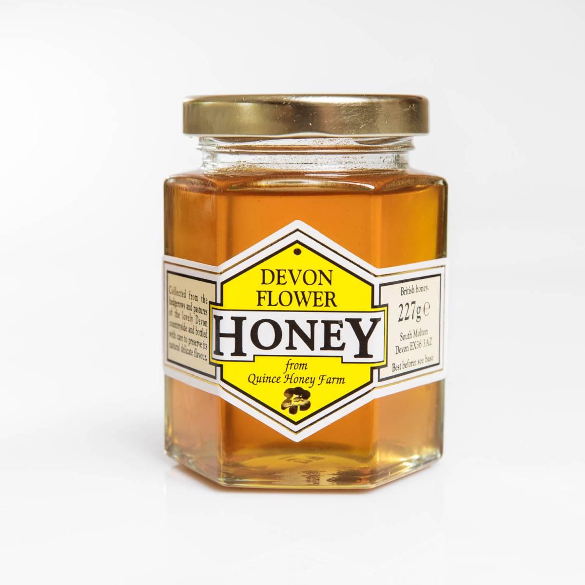 devon flower honey clear 227g