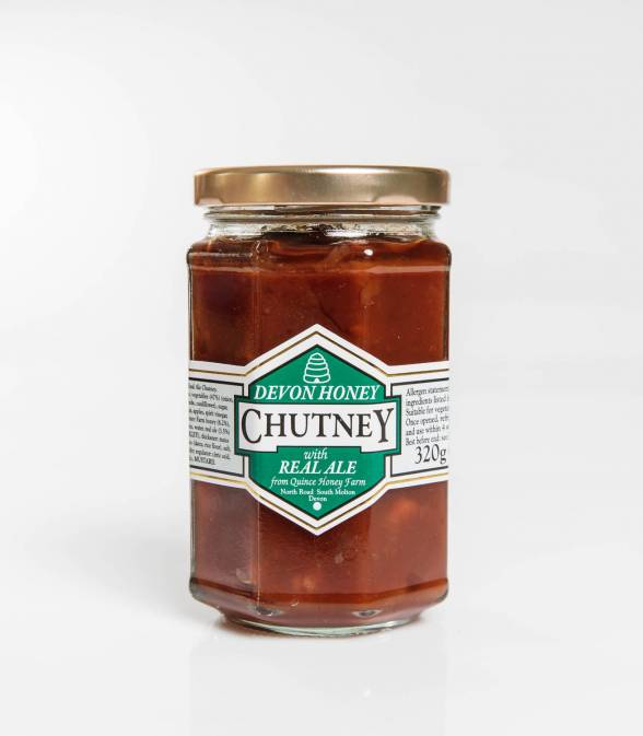 devon honey & real ale chutney 320g