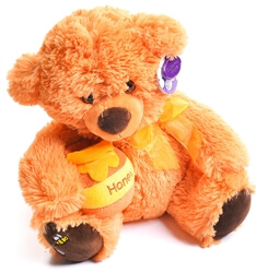 Soft Toy Bear with Honeypot