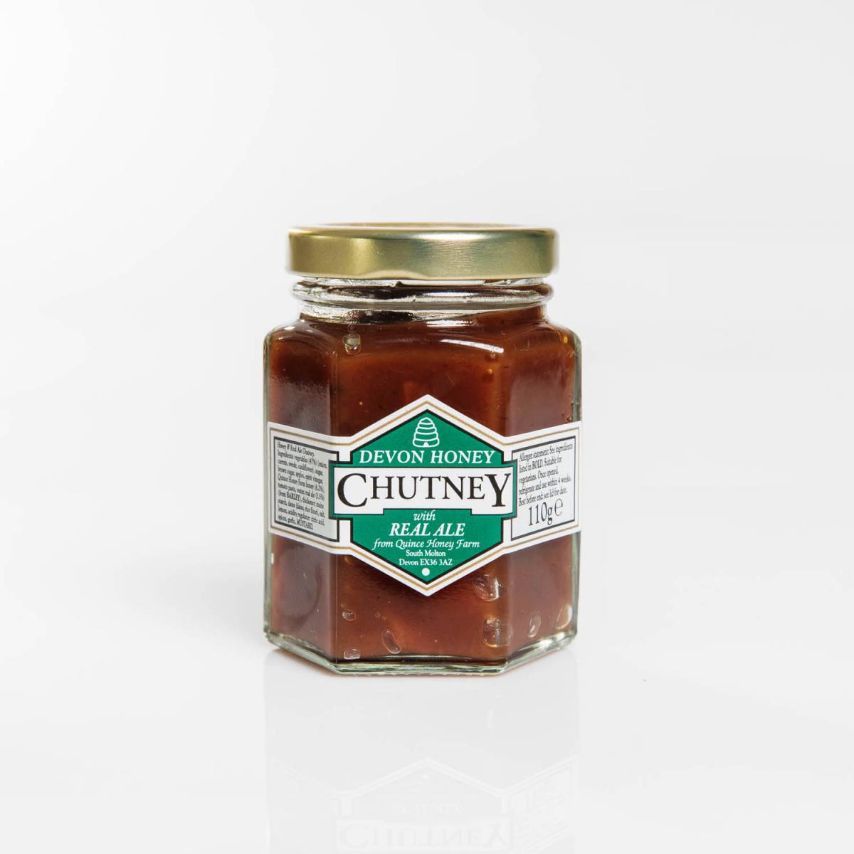 devon honey & real ale chutney 105g