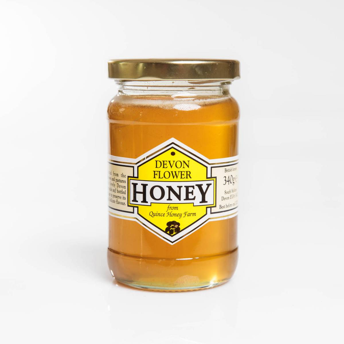 devon flower honey clear 340g