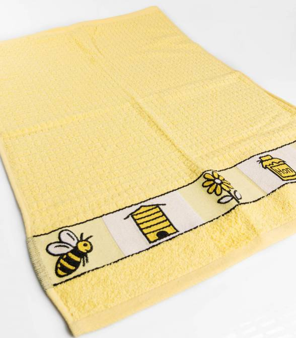 Yellow Bee Hand Towel