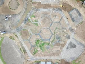 Aerial outline of garden