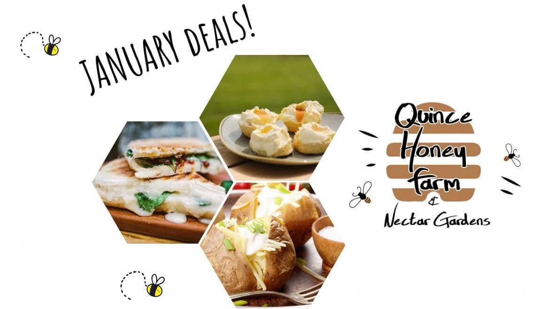 January Deals at Quince Honey Farm
